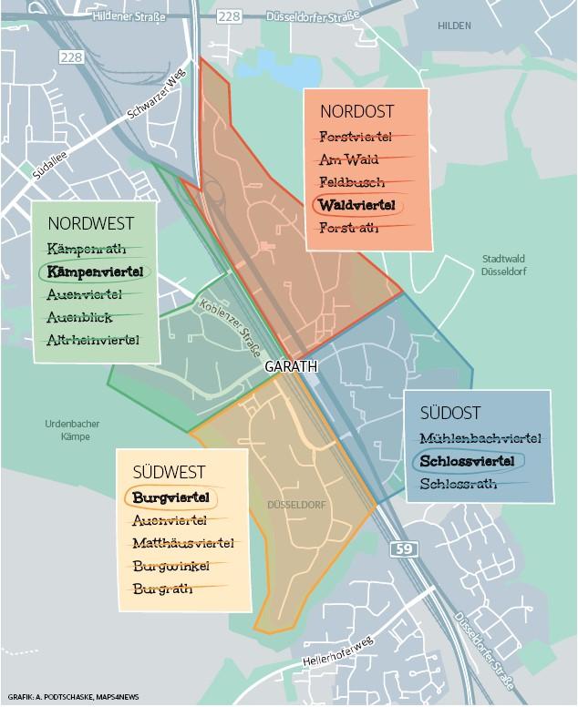 rheinische post new district names